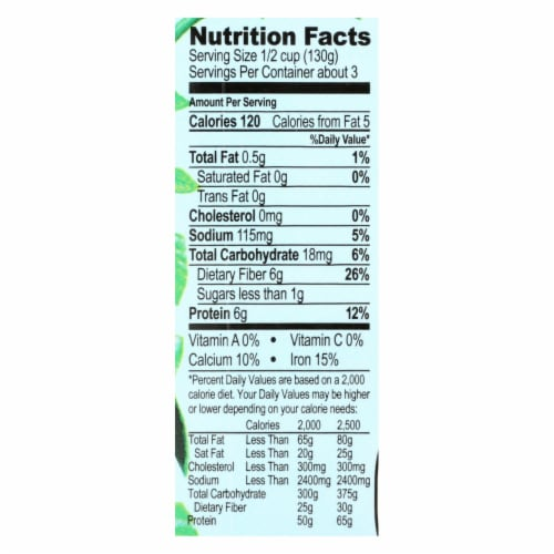 Jack's Quality Organic Cannellini Beans - Low Sodium - Case of 8 - 13.4 oz Perspective: back