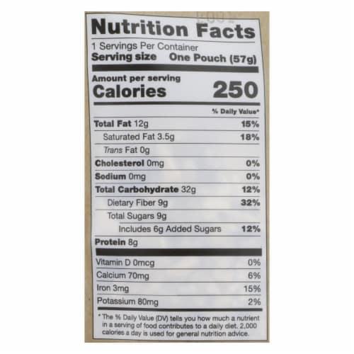Overnite Organics - Overnight Oats Banana Chips - Case of 8 - 2 OZ Perspective: back