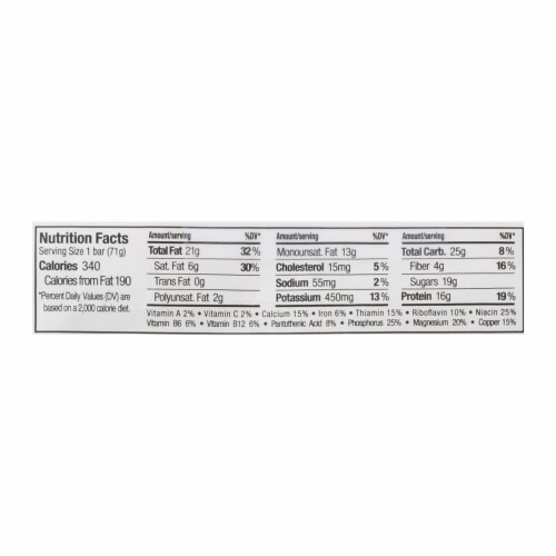 Perfect Bar Coconut Peanut Butter Bar - Case of 8 - 2.5 OZ Perspective: back