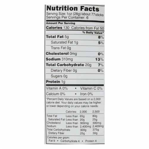 The Daily Crave Veggie Sticks - Potato and Other Vegetable Snack - Case of 8 - 6 oz Perspective: back