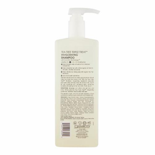 GIOVANNI Tea Tree Triple Treat Invigorating Shampoo, 24 oz., for Itchy Dry Scalp Perspective: back