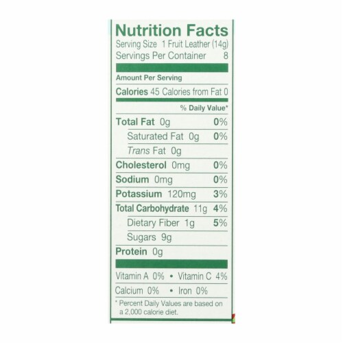 Stretch Island All-Natural Fruit Strip - Grape - Case of 9 - 4 oz. Perspective: back