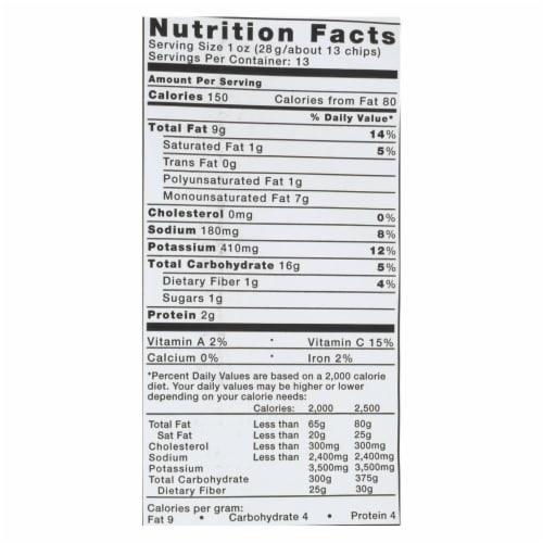 Kettle Brand - Potato Chips Jalapeno - Case of 9 - 13 OZ Perspective: back