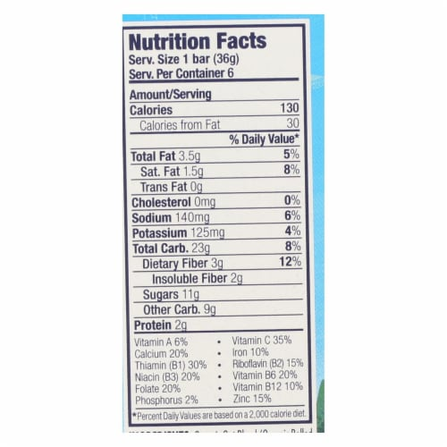 Clif Kid Zbar - Chocolate Brownie - Case of 9 - 7.62 oz Perspective: back