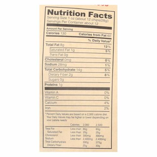 Mi Nina's White Corn Tortilla Chips With Sea Salt  - Case of 9 - 12 OZ Perspective: back