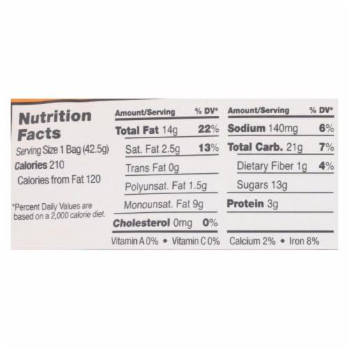 Sahale Tangerine Vanilla Cashew Macadamia Glazed Mix  - Case of 9 - 1.5 OZ Perspective: back