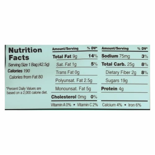 Sahale Snacks Trail Mix - Classic Fruit and Nut Blend - 1.5 oz - Case of 9 Perspective: back