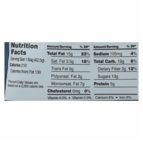 Sahale Berry Macaroon Almond Trail Mix  - Case of 9 - 1.5 OZ Perspective: back