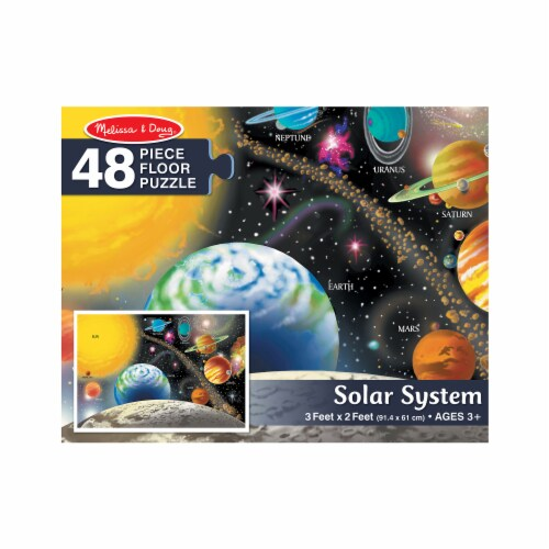 Melissa & Doug® Solar System & Underwater Puzzle Bundle Perspective: bottom