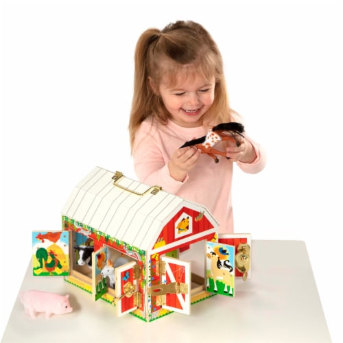 Melissa and Doug® Latches Barn Playset Perspective: bottom