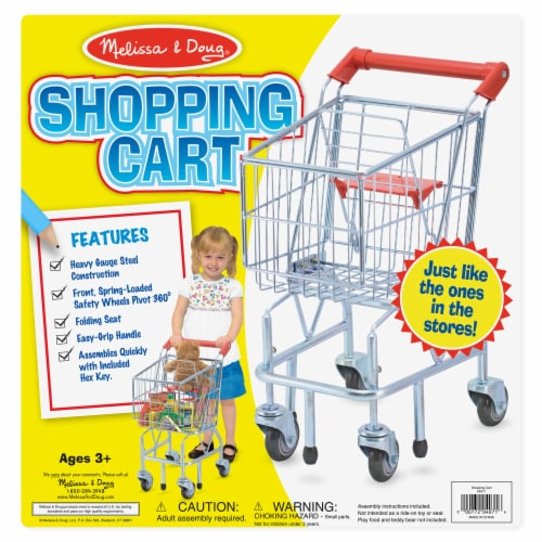 Melissa and Doug® Metal Shopping Cart Toy Perspective: bottom