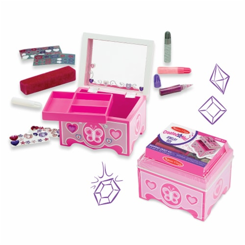 Melissa & Doug® Created by Me Jewelry Box Craft Kit Perspective: bottom