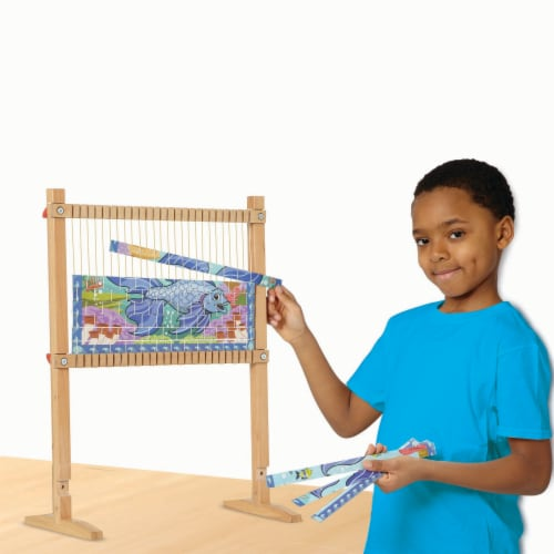 Melissa & Doug® Wooden Multi-Craft Loom Perspective: bottom