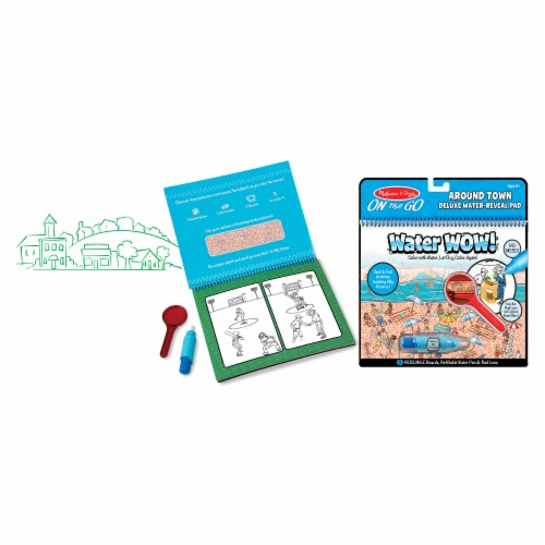 Melissa & Doug® Water Wow Around Town Deluxe Water Reveal Pad Perspective: bottom