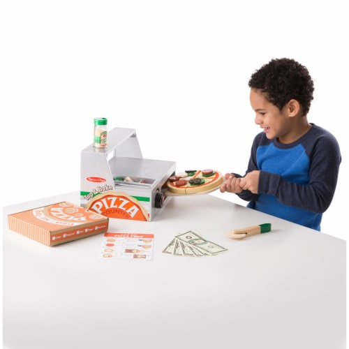 Melissa & Doug® Top & Bake Wooden Pizza Counter Toy Perspective: bottom