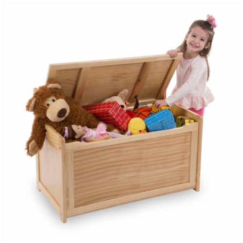 Melissa & Doug® Wooden Toy Chest - Honey Perspective: bottom