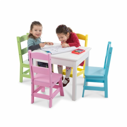 Melissa & Doug® Table with Pastel Chairs Perspective: bottom