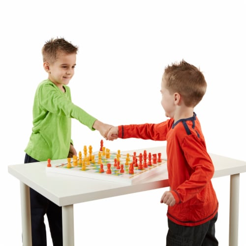 Melissa & Doug® Wooden Chess & Pachisi Game Board Perspective: bottom
