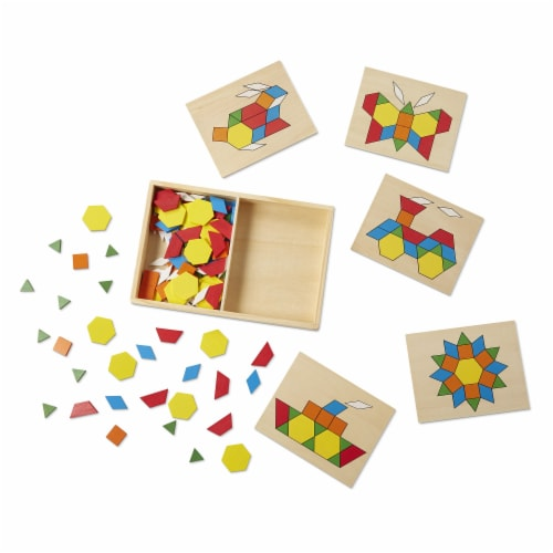 Melissa and Doug® Pattern Blocks and Boards Set Perspective: bottom