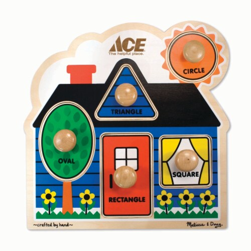 Ace Wooden Peg Puzzle Perspective: bottom