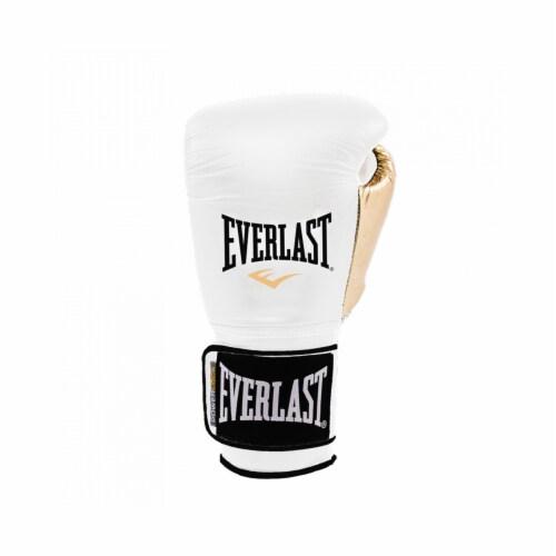 Everlast P00000722 Women's 12 Ounce Powerlock Hook & Loop Training Gloves, White Perspective: bottom
