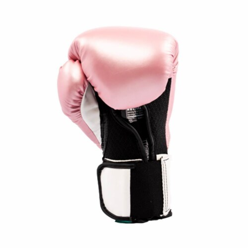 Everlast Pro Style Elite Workout Training Boxing Gloves Size 12 Ounces, Pink Perspective: bottom