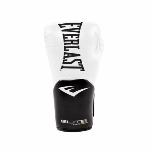 Everlast Pro Style Elite Workout Training Boxing Gloves Size 12 Ounces, White Perspective: bottom