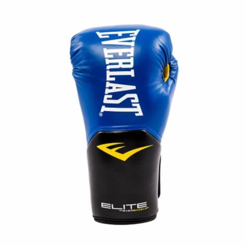 Everlast Pro Style Elite Workout Training Boxing Gloves Size 14 Ounces, Blue Perspective: bottom