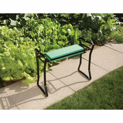 Best Garden Green Foam Pad w/Black Steel Frame Garden Kneeler Bench GM7104 Perspective: bottom