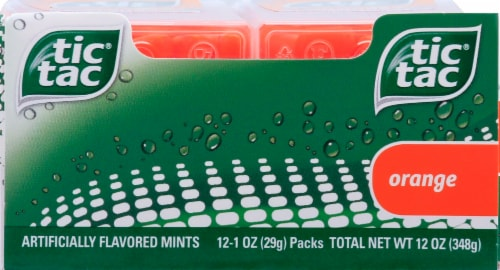 Tic Tac Orange Flavored Mints Perspective: bottom
