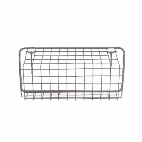 Spectrum Pegboard & Wall Mount Basket - Gray Perspective: bottom