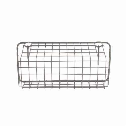 Spectrum Pegboard Basket and Hook Station - Industrial Gray Perspective: bottom