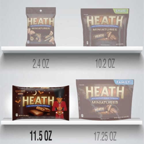 Heath Snack Size Toffee Bars Halloween Candy Perspective: bottom
