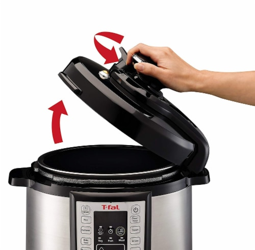 T-fal Electric Pressure Cooker - Silver/Black Perspective: bottom