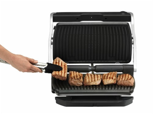 T-fal Stainless Steel OptiGrill + XL Indoor Grill Perspective: bottom