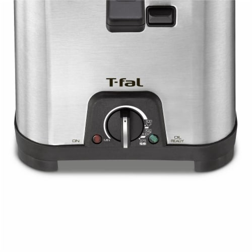 T-fal Compact Deep Fryer - Silver/Black Perspective: bottom