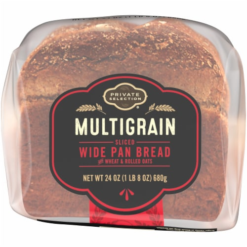 Private Selection® Multigrain Sliced Wide Pan Bread Perspective: bottom