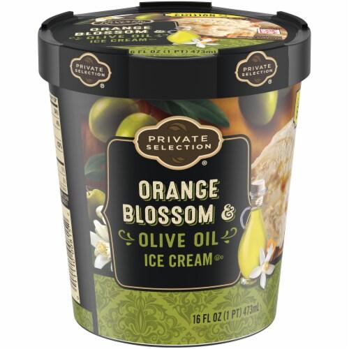 Private Selection Orange Blosson Olive Oil Ice Cream Perspective: bottom