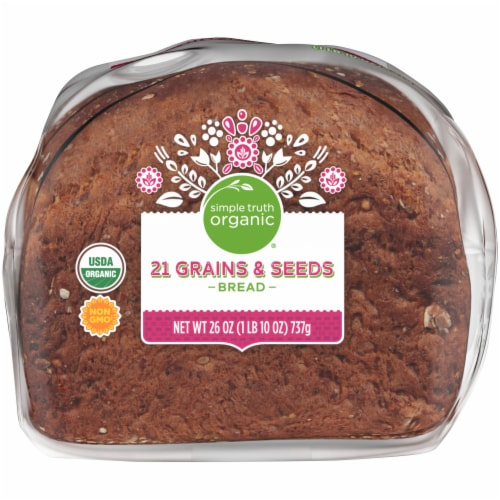 Simple Truth Organic® 21 Grains & Seeds Bread Perspective: bottom