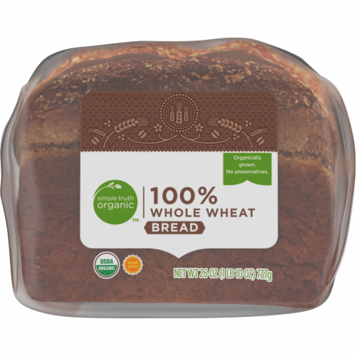 Simple Truth Organic™ 100% Whole Wheat Bread Perspective: bottom