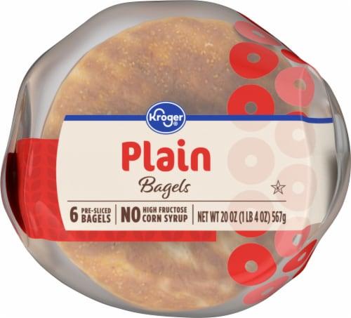 Kroger® Plain Bagels Perspective: bottom