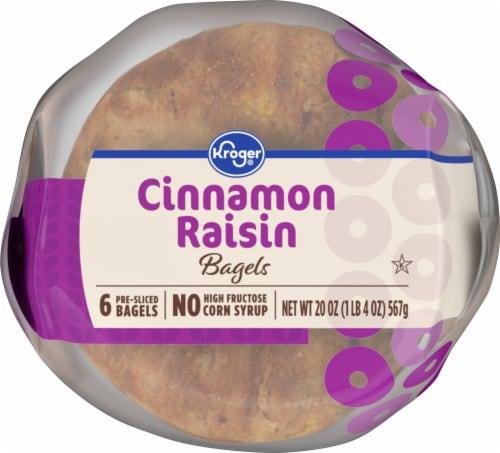 Kroger® Cinnamon Raisin Pre-Sliced Bagels Perspective: bottom