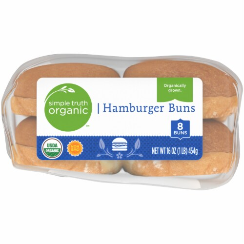Simple Truth Organic™ Hamburger Buns 8 Count Perspective: bottom