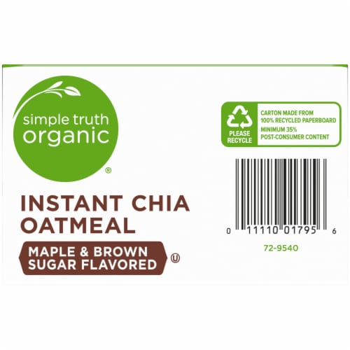 Simple Truth Organic® Maple & Brown Sugar Flavored Instant Chia Oatmeal Perspective: bottom