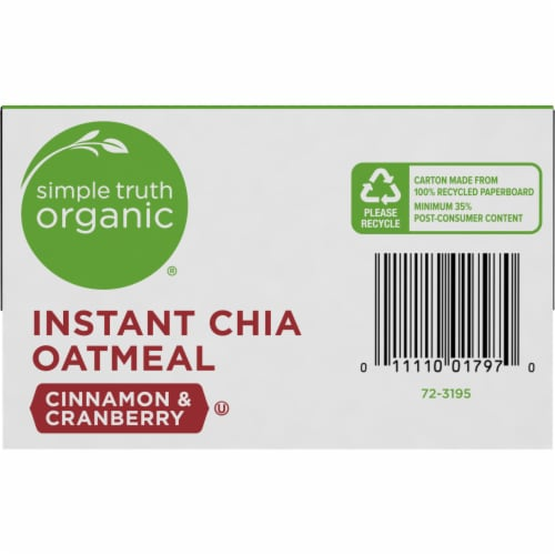 Simple Truth Organic® Instant Cinnamon & Cranberry Chia Oatmeal Packets Perspective: bottom