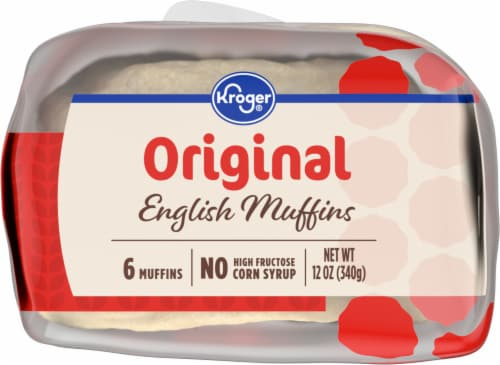 Kroger® Plain English Muffins Perspective: bottom