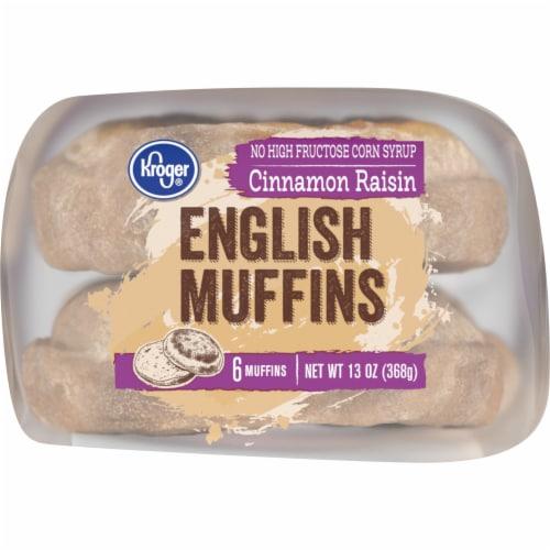 Kroger® Cinnamon Raisin English Muffins Perspective: bottom