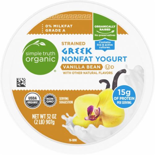 Simple Truth Organic™ Strained Vanilla Bean Greek Nonfat Yogurt Perspective: bottom