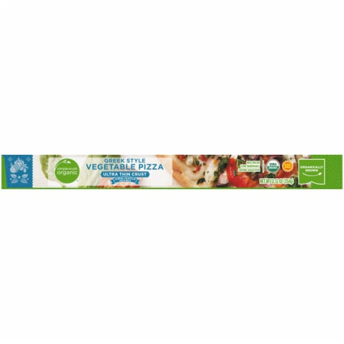 Simple Truth Organic® Ultra Thin Crust Greek Style Vegetable Pizza Perspective: bottom