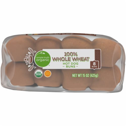 Simple Truth Organic® Whole Wheat Hot Dog Buns Perspective: bottom